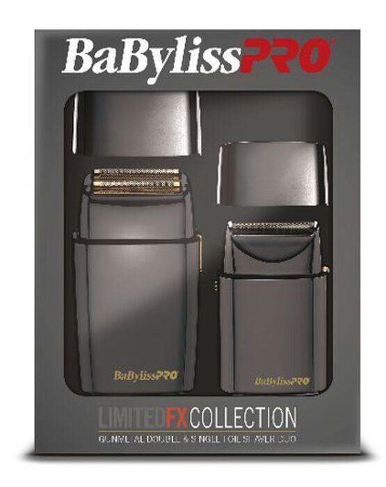 BaBylissPRO® LimitedFX Collection Gunmetal Double & Single Foil Shaver Duo image number 1