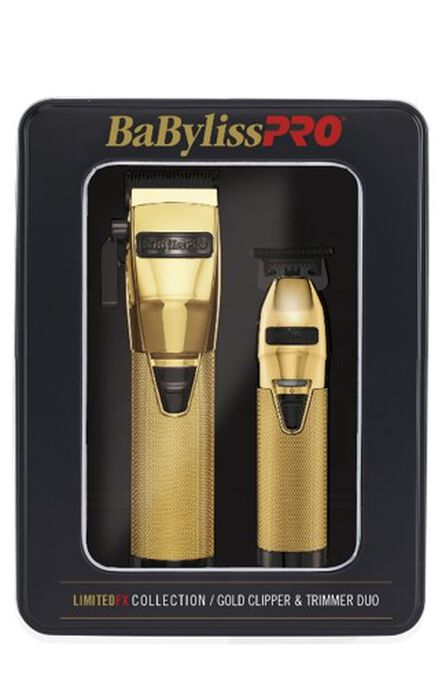 BaBylissPRO® LimitedFX Collection Gold Clipper & Trimmer Duo image number 1