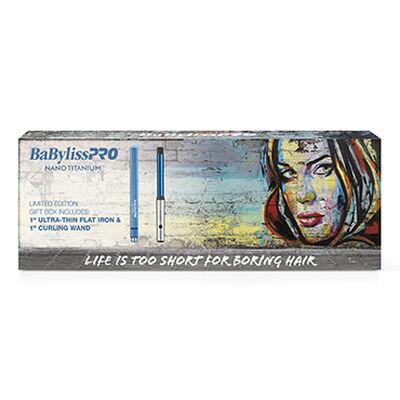 BaBylissPRO® Nano Titanium™ Limited Edition Gift Box (Flat Iron & Curling Wand)