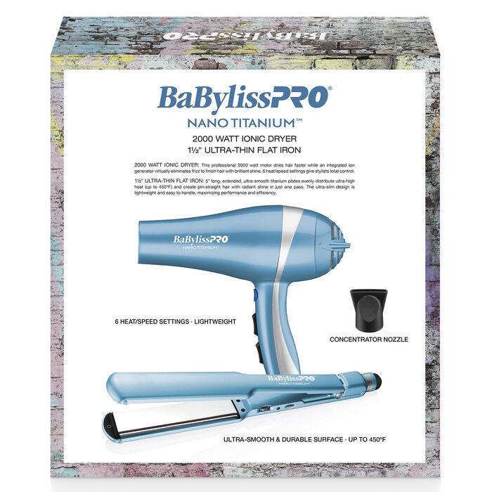 BaBylissPRO® Nano Titanium™ Limited Edition Gift Box (Dryer & Flat Iron), , hi-res image number 2