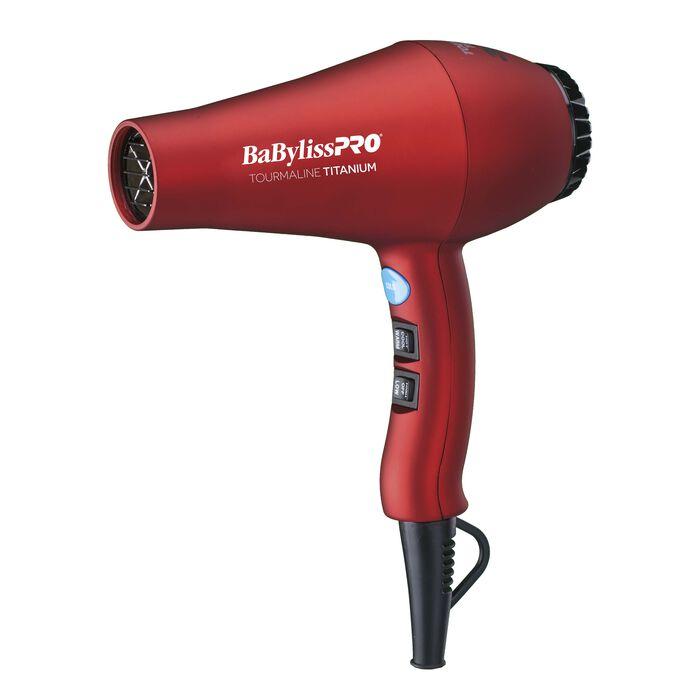 BaBylissPRO TT® Tourmaline Titanium 3000 Dryer (Red), , hi-res image number 1