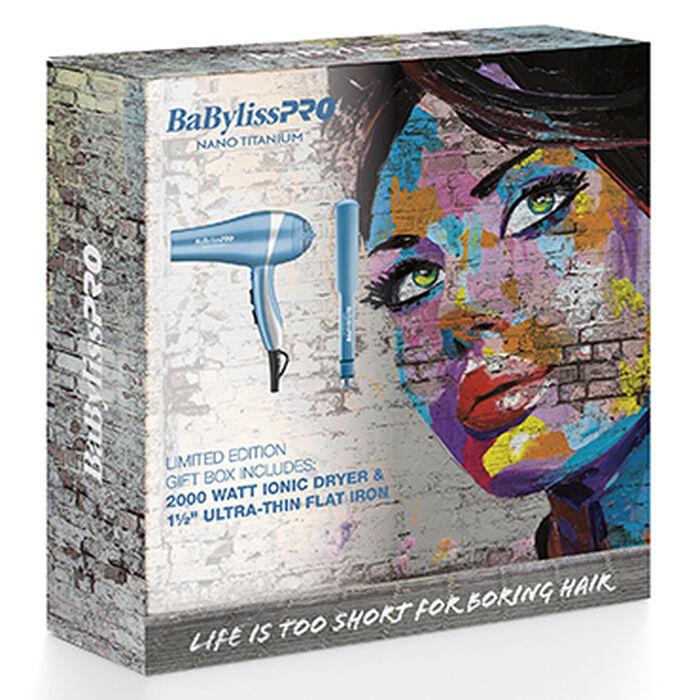 BaBylissPRO® Nano Titanium™ Limited Edition Gift Box (Dryer & Flat Iron), , hi-res image number 1